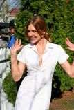 "Tricia Helfer - TwitPic from Filming of ""Walk All Over Me"""